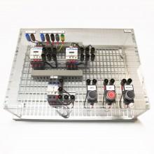 Draaistroommotorschakeling links/rechts, bediend d.m.v. 3 drukknoppen