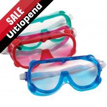 Set van 6 veiligheidsbrillen in 3 kleuren (uitlopend)